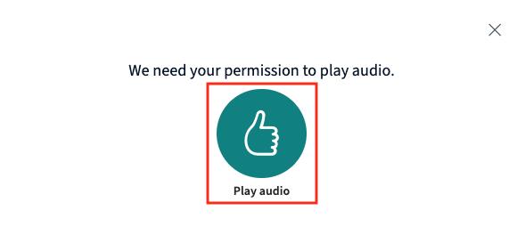 Play audio