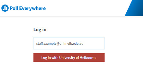 Unimelb login button activated