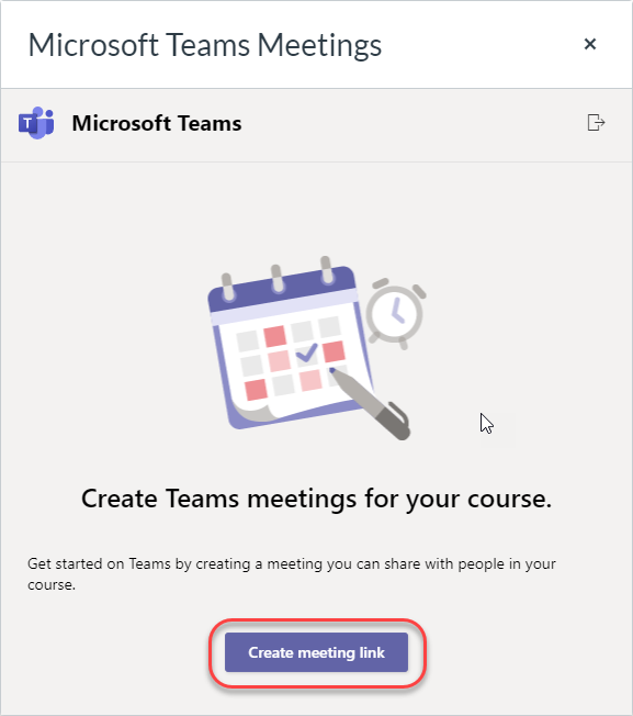 Create meeting link button