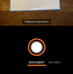 Capture button and Document option for generating PDFs