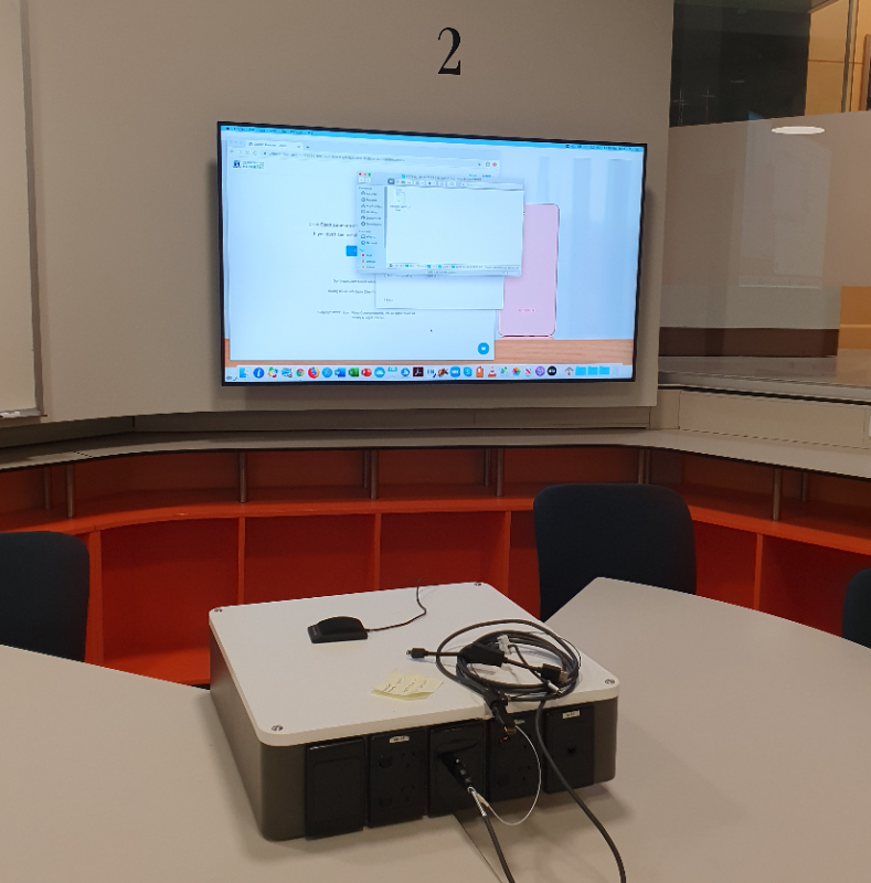 student pod and display screen