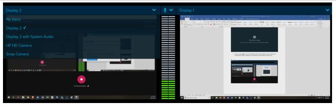 Selecting the screen input
