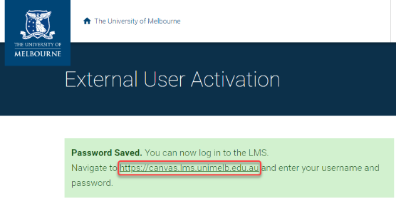 Log in to the LMS via displayed link