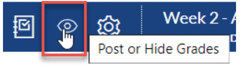 Post or Hide Grades Icon in SpeedGrader