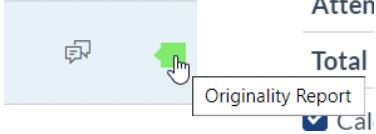 Similarity Report Icon next on Grades Page