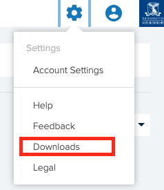 Click on Downloads in Lecture Capture settings