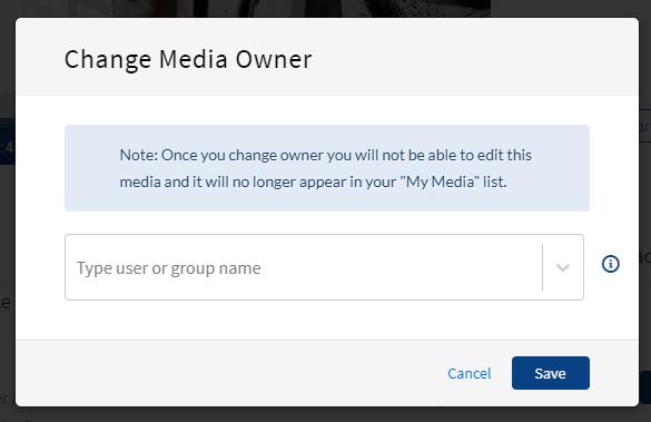 Change Media Owner window