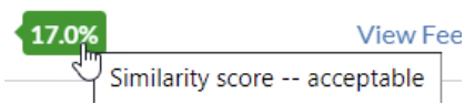 Similarity Score when viewing the Assignment Submission