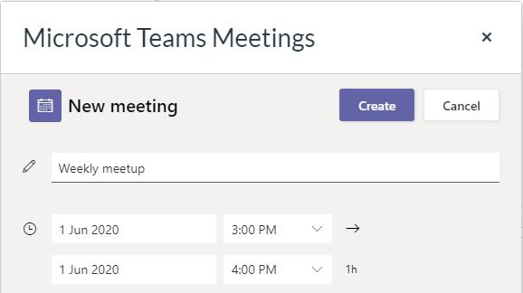 Meeting details