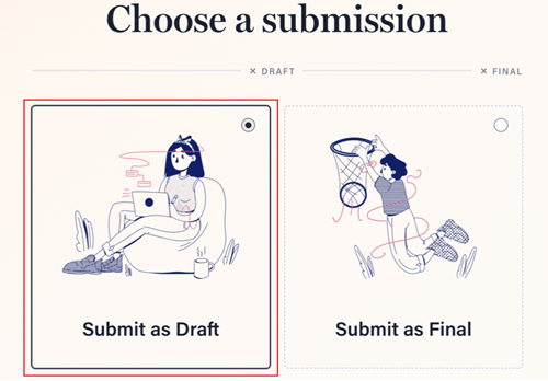 Submit as Draft