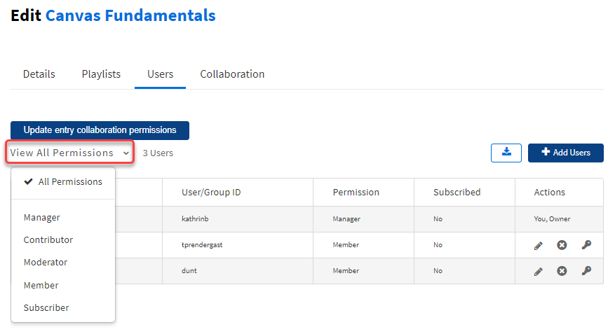 View all channel users roles (channel permissions)