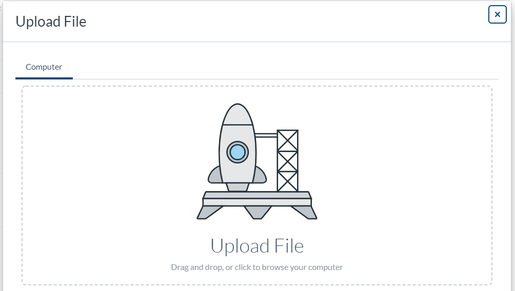 Uploading files using drag and drop