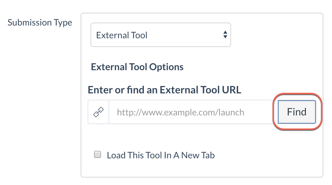 Find external tool