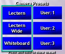 Additional fixed preset options under Web Conferencing