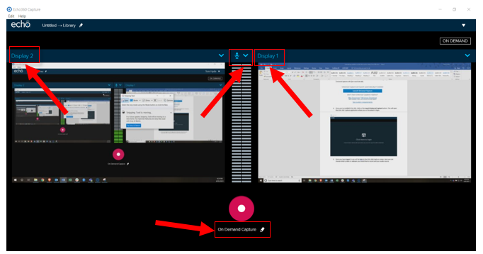 Selecting the screen, webcam, and audio source