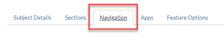 Navigation tab