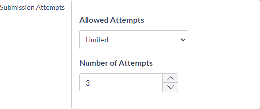 Allowed attempts setting